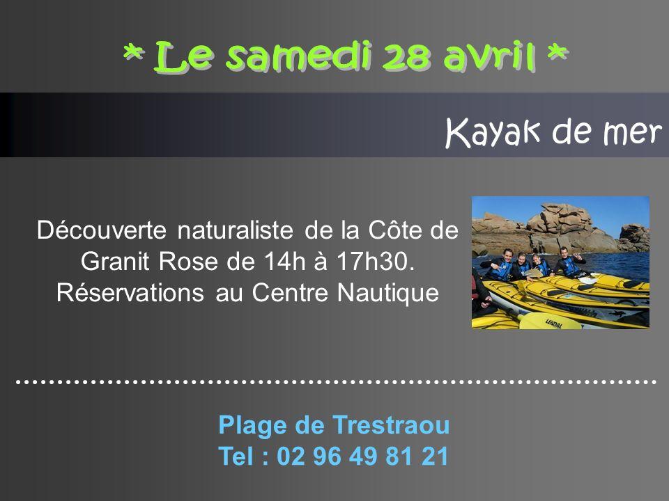 Kayak de mer Découverte naturaliste de la Côte de Granit Rose de 14h à 17h30.