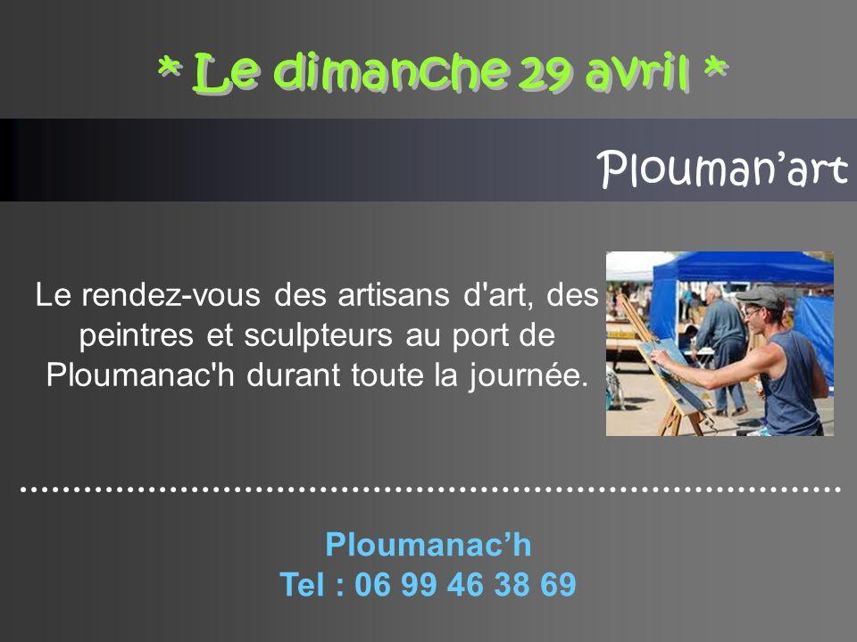 Ploumanart Le rendez-vous des artisans d art, des peintres et sculpteurs au port de Ploumanac h durant toute la journée.
