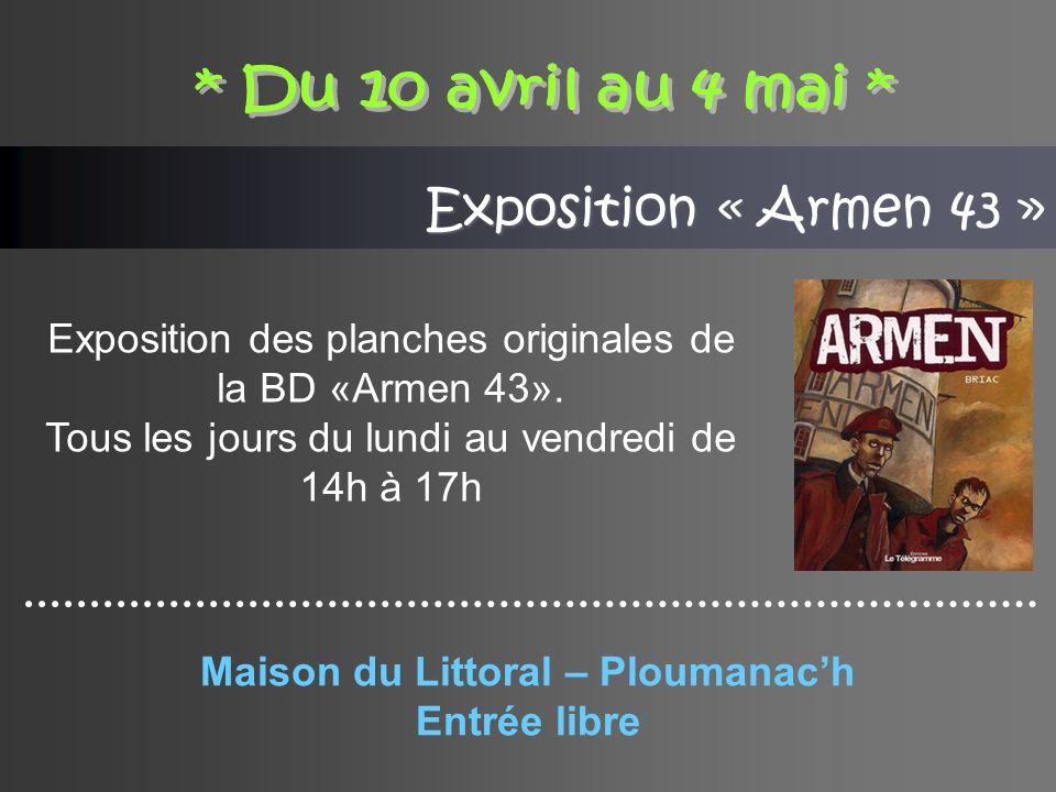 Exposition « Armen 43 » Exposition des planches originales de la BD «Armen 43».