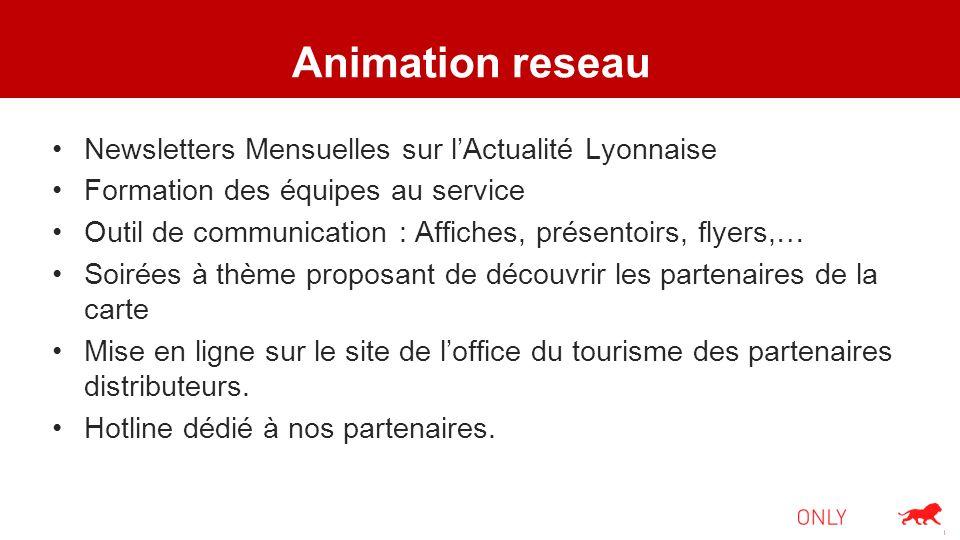 Animation reseau Newsletters Mensuelles sur lActualité Lyonnaise Formation des équipes au service Outil de communication : Affiches, présentoirs, flye