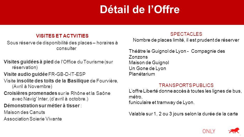 Détail de lOffre VISITES ET ACTVITIES Sous réserve de disponibilité des places – horaires à consulter Visites guidées à pied de l'Office du Tourisme (