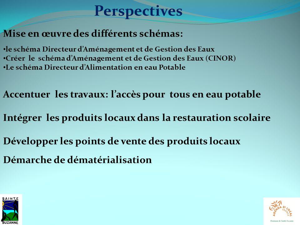 Perspectives Démarche de dématérialisation Développer les points de vente des produits locaux Intégrer les produits locaux dans la restauration scolai