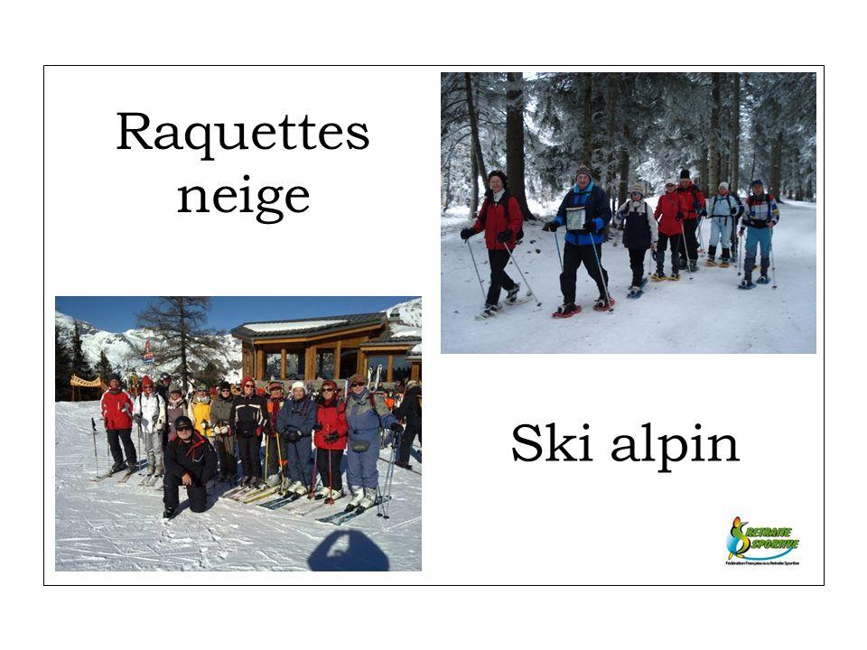 Raquettes neige Ski alpin