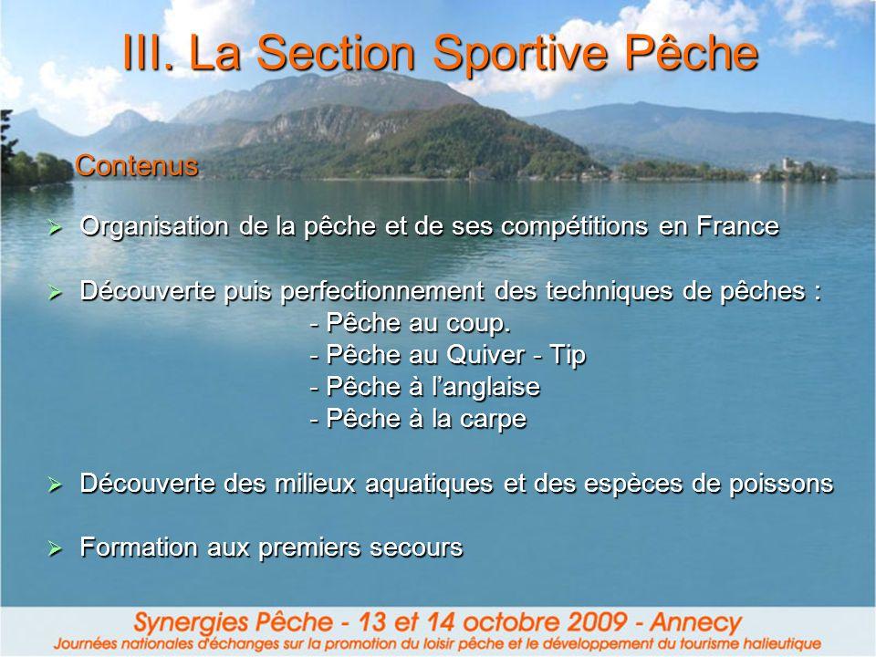 Organisation de la pêche et de ses compétitions en France Organisation de la pêche et de ses compétitions en France Découverte puis perfectionnement d