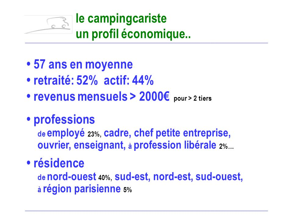 200 000 camping-cars en France un tourisme… en forte expansion. ______________________________________________________________________________________