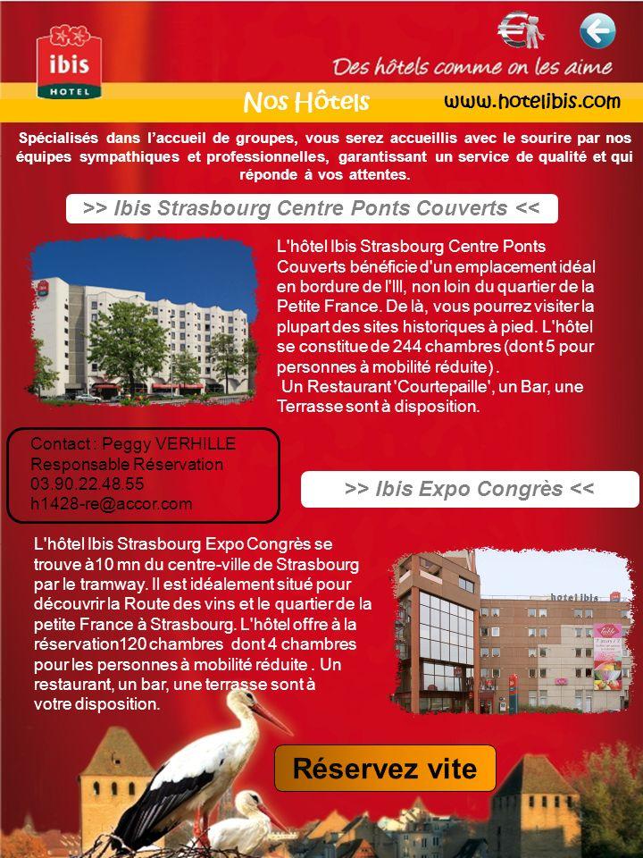 >> Ibis Strasbourg Centre Ponts Couverts << >> Ibis Expo Congrès << L'hôtel Ibis Strasbourg Centre Ponts Couverts bénéficie d'un emplacement idéal en