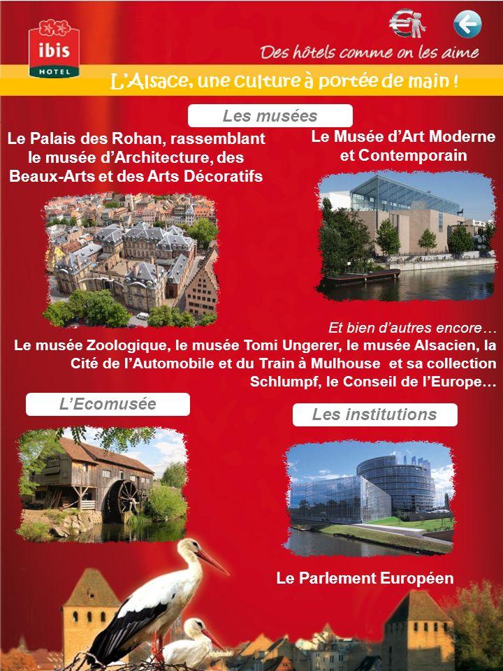 Les musées Le Palais des Rohan, rassemblant le musée dArchitecture, des Beaux-Arts et des Arts Décoratifs Le Musée dArt Moderne et Contemporain Et bie