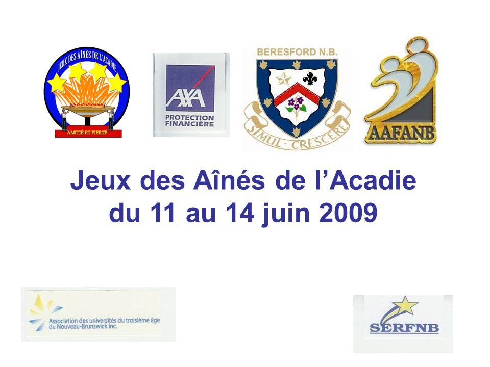 Jeux des Aînés de lAcadie du 11 au 14 juin 2009