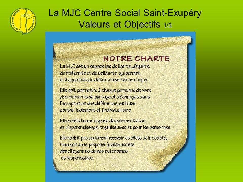 La MJC Centre Social Saint-Exupéry Valeurs et Objectifs 1/3