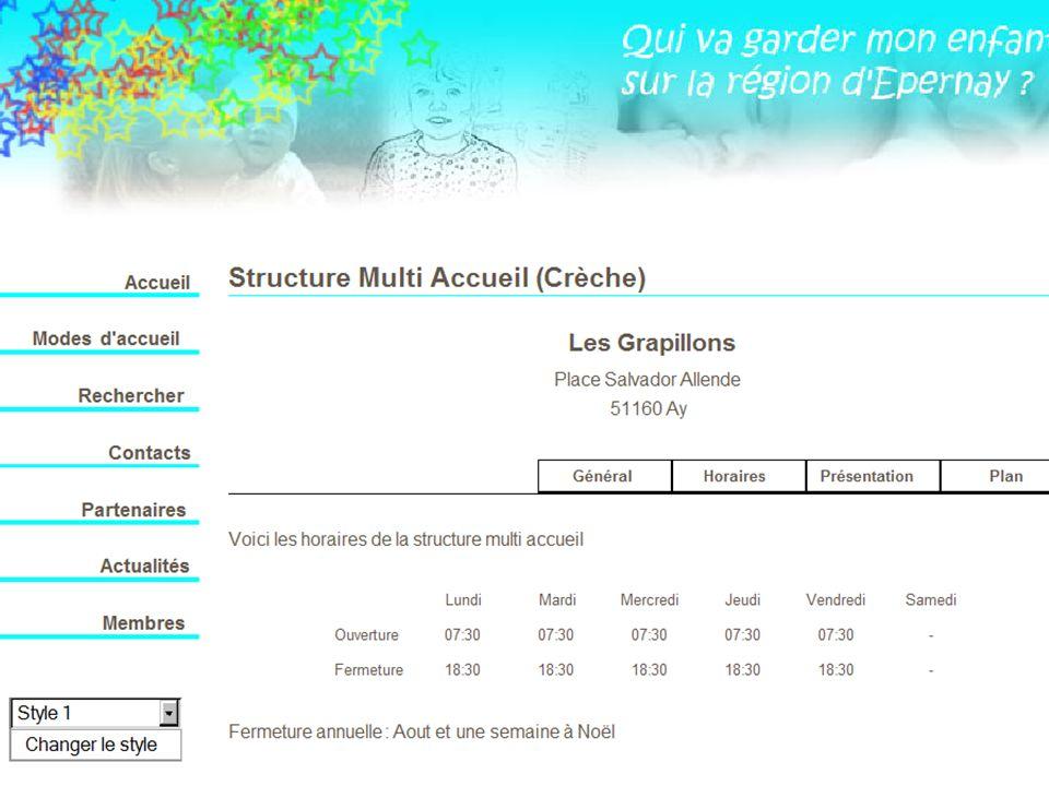 Visualisation fiche SMA horaires