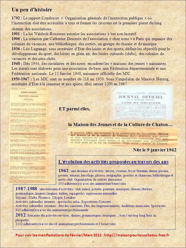 1792 : Le rapport Condorcet « Organisation g é n é rale de l instruction publique » o ù l instruction doit être accessible à tous et former les citoyens est la premi è re pierre du long chemin des associations.