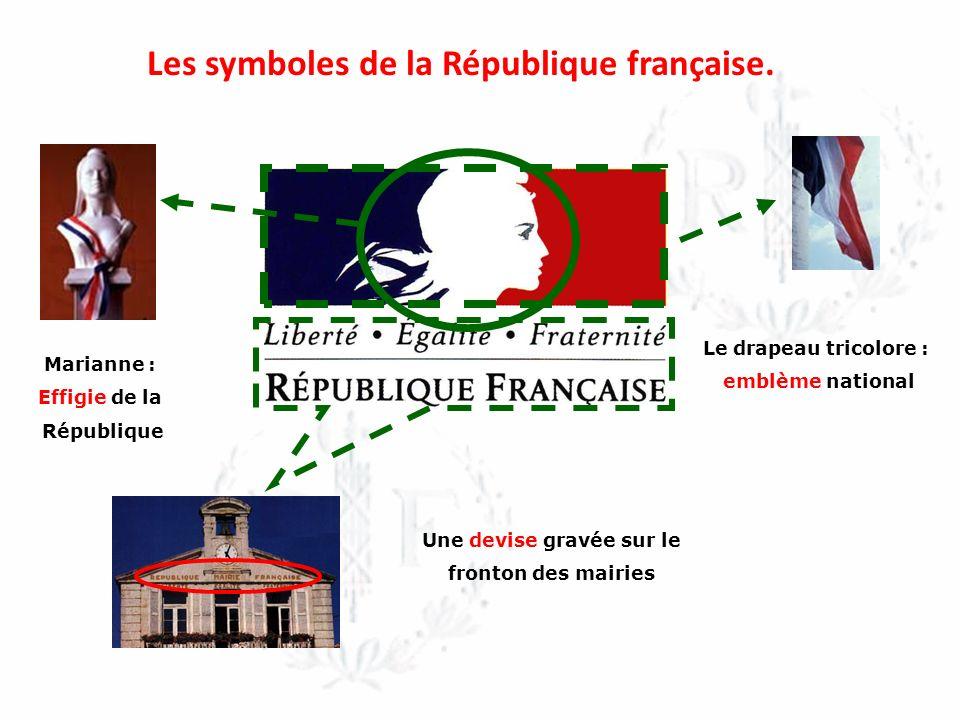Le drapeau tricolore est né de la réunion, sous la Révolution française, des couleurs du roi (blanc) et de la ville de Paris (bleu et rouge).