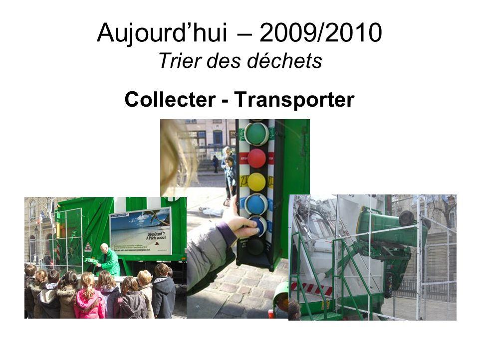 Aujourdhui – 2009/2010 Trier des déchets Collecter - Transporter