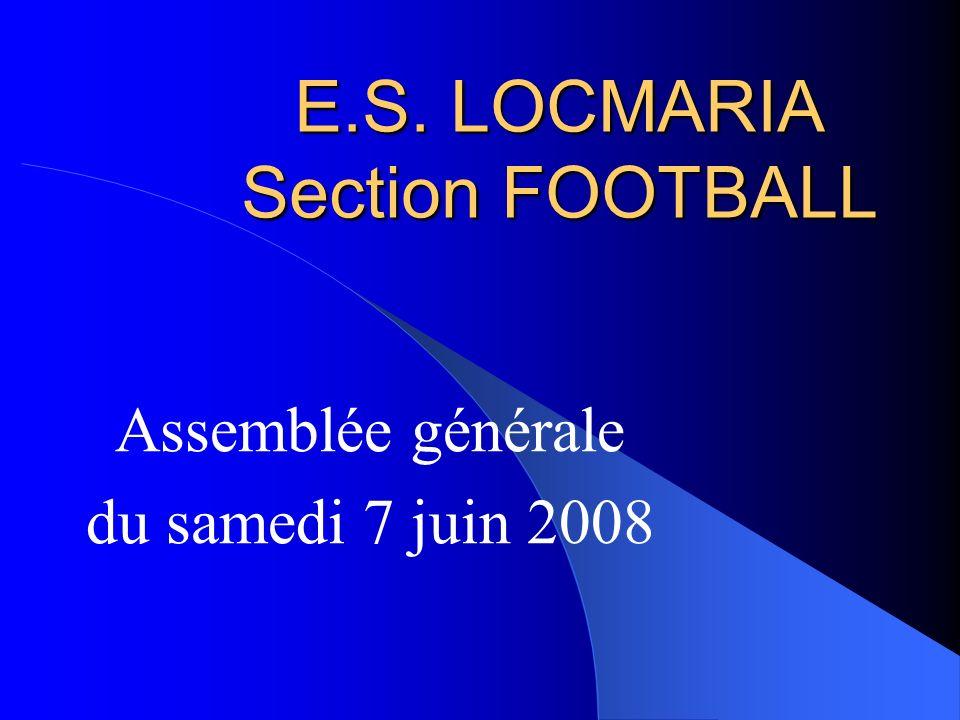 E.S. LOCMARIA Section FOOTBALL Assemblée générale du samedi 7 juin 2008
