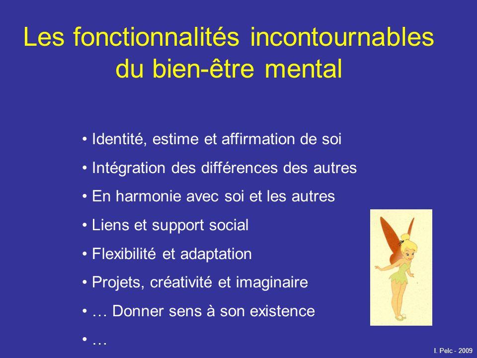 Les fonctionnalités incontournables du bien-être mental Identité, estime et affirmation de soi Intégration des différences des autres En harmonie avec