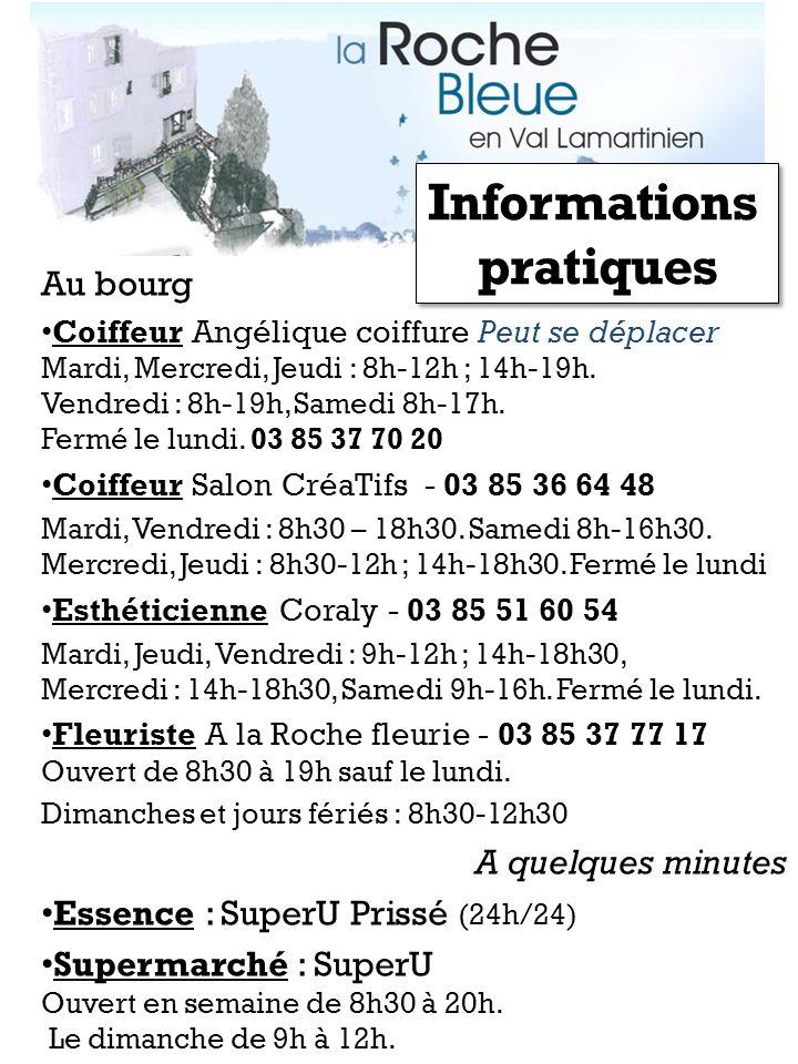 Au bourg Coiffeur Angélique coiffure Peut se déplacer Mardi, Mercredi, Jeudi : 8h-12h ; 14h-19h. Vendredi : 8h-19h, Samedi 8h-17h. Fermé le lundi. 03