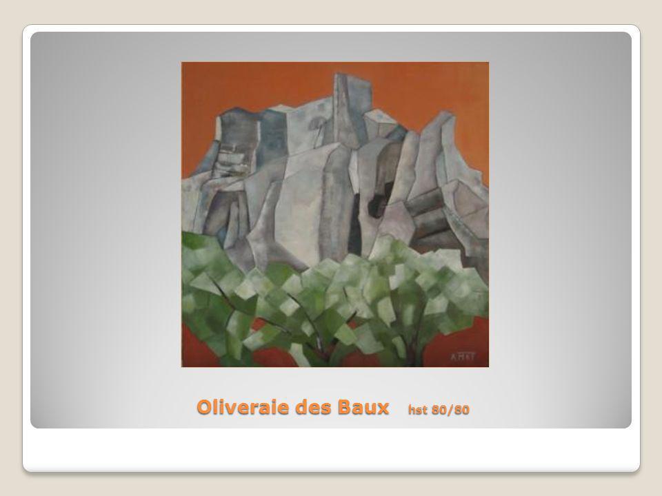 Oliveraie des Baux hst 80/80