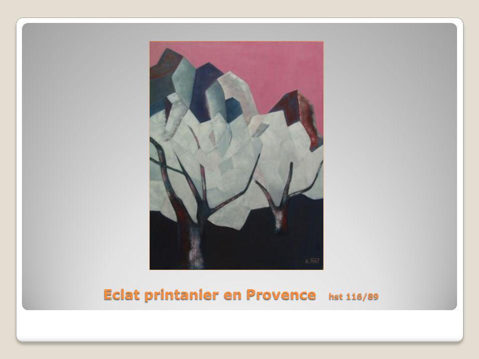 Eclat printanier en Provence hst 116/89