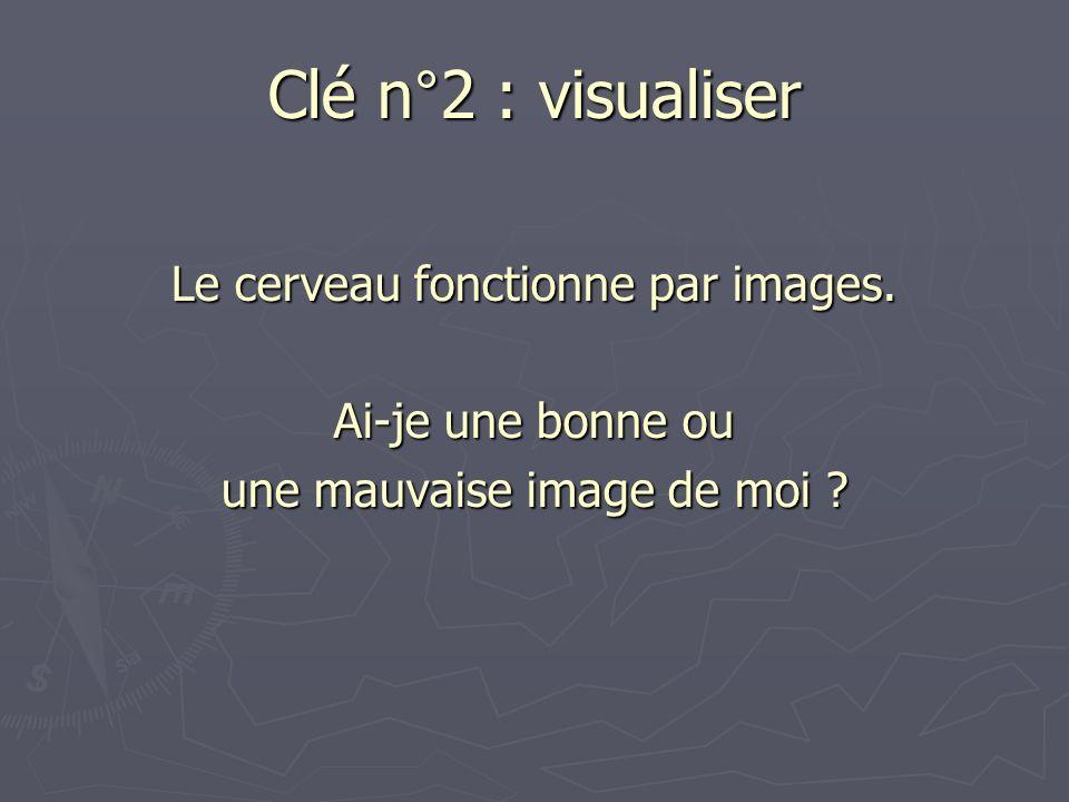 Clé n°2 : visualiser Le cerveau fonctionne par images. Ai-je une bonne ou une mauvaise image de moi ?