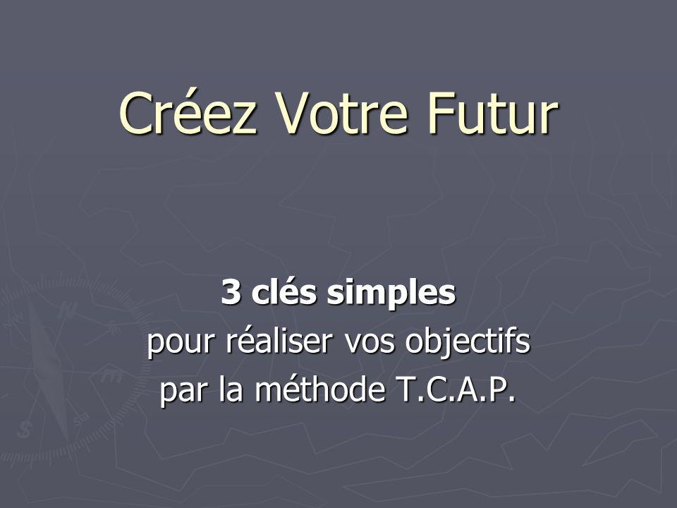 Créez Votre Futur 3 clés simples pour réaliser vos objectifs par la méthode T.C.A.P.