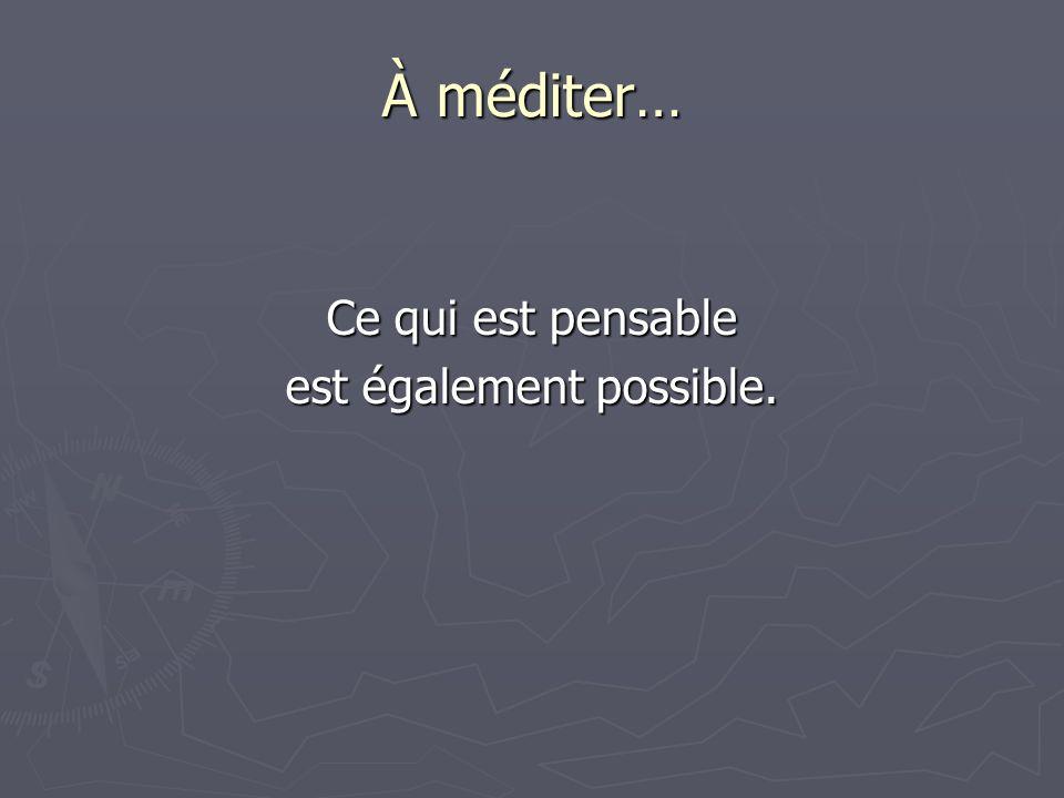 R É U S S I R… Cest passer de la pensée des impossibilités à la pensée des possibilités.