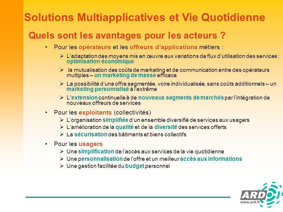 Solutions Multiapplicatives et Vie Quotidienne Quels sont les avantages pour les acteurs .