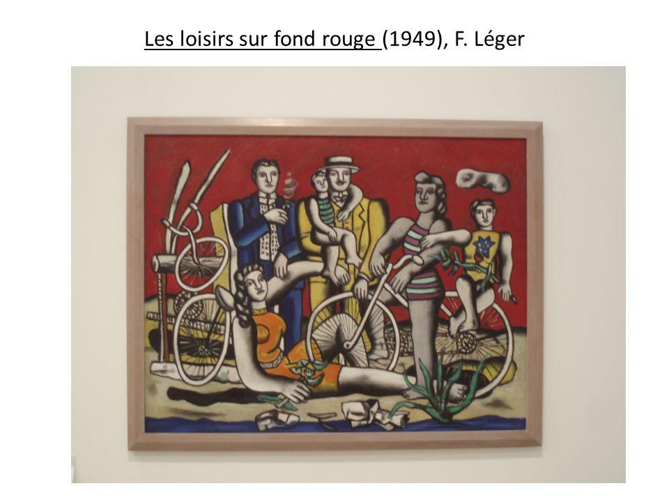 Les loisirs sur fond rouge (1949), F. Léger