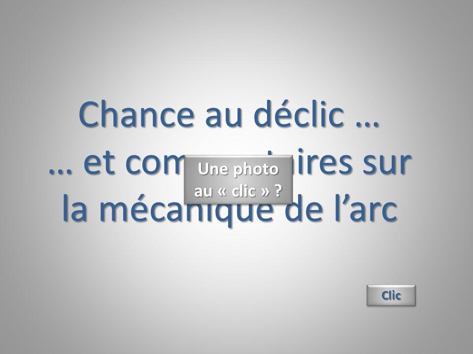 Chance au déclic … … et commentaires sur la mécanique de larc ClicClic Une photo au « clic » ?