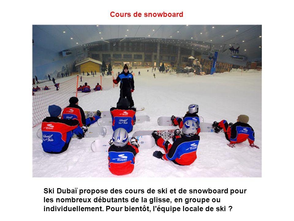 Piste de Bobsleigh Ski Dubaï n'a oublié aucun sport de glisse : le bobsleigh a aussi droit à sa piste double. Une piste qui attire la curiosité des pa