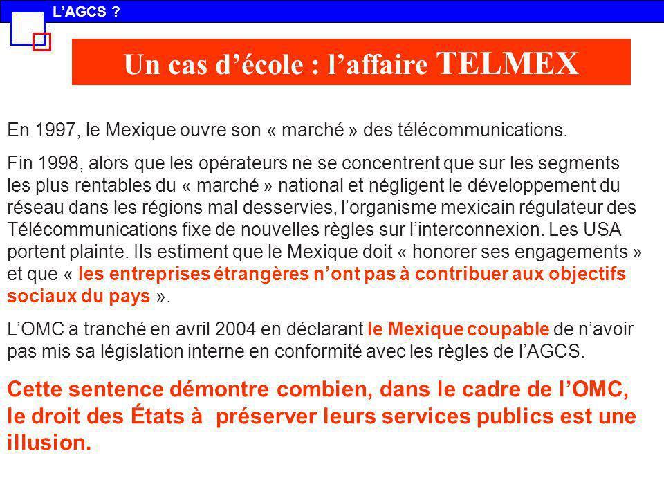 En 1997, le Mexique ouvre son « marché » des télécommunications. Fin 1998, alors que les opérateurs ne se concentrent que sur les segments les plus re