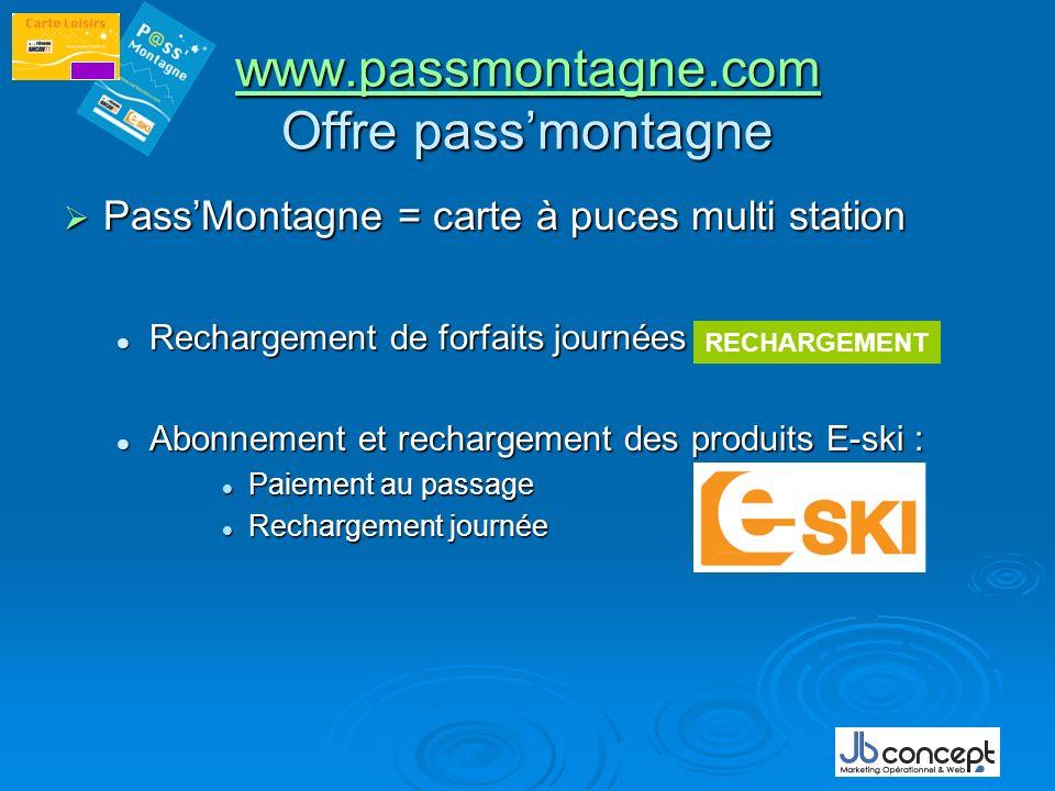 www.passmontagne.com www.passmontagne.com Offre passmontagne www.passmontagne.com PassMontagne = carte à puces multi station PassMontagne = carte à pu