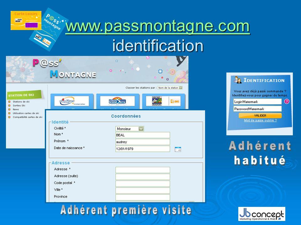 www.passmontagne.com www.passmontagne.com identification www.passmontagne.com