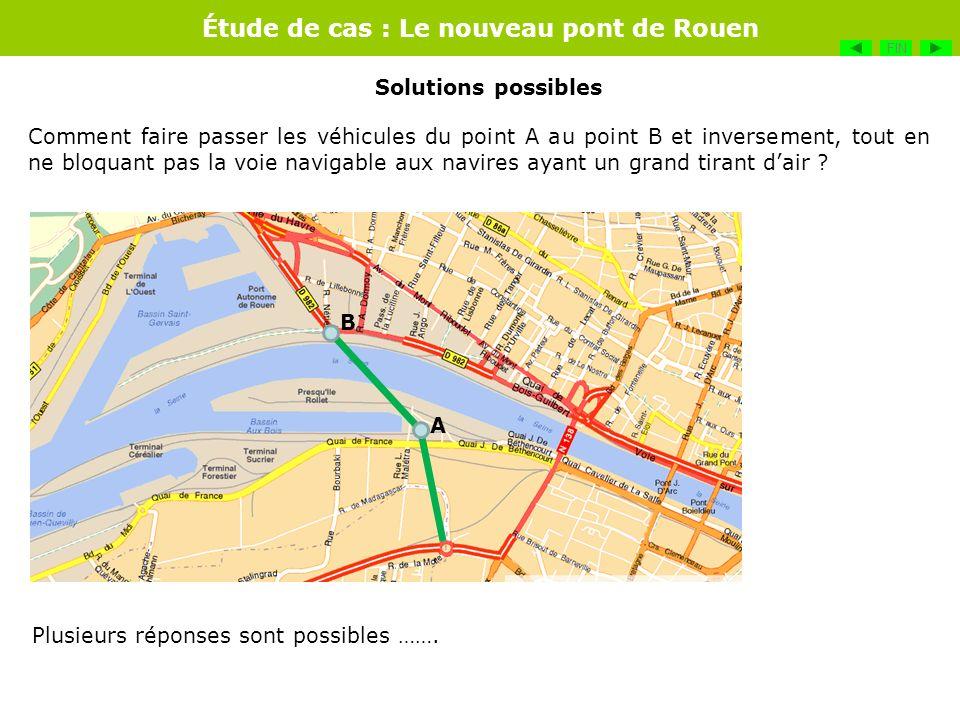 Étude de cas : Le nouveau pont de Rouen Comment faire passer les véhicules du point A au point B et inversement, tout en ne bloquant pas la voie navig