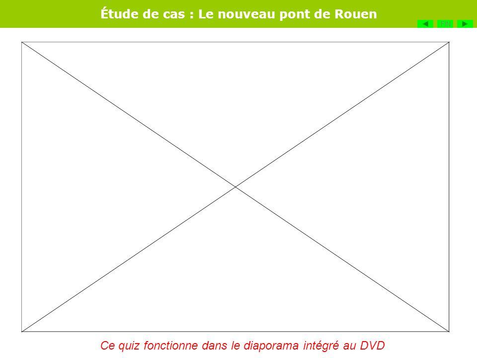 Étude de cas : Le nouveau pont de Rouen FIN Ce quiz fonctionne dans le diaporama intégré au DVD