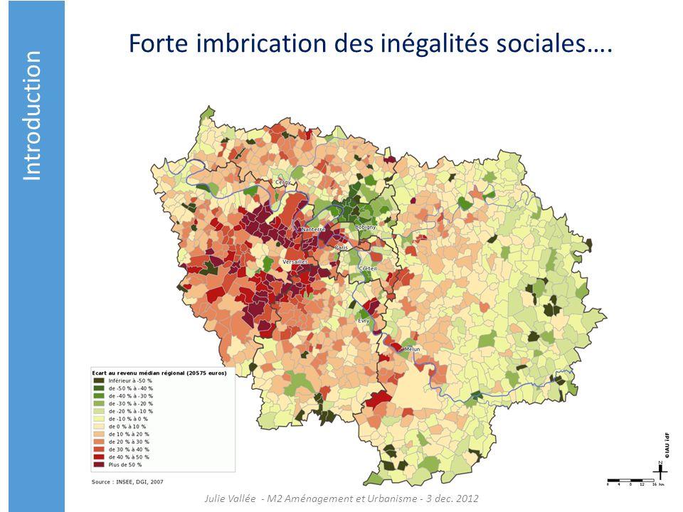 Forte imbrication des inégalités sociales…. Introduction Julie Vallée - M2 Aménagement et Urbanisme - 3 dec. 2012