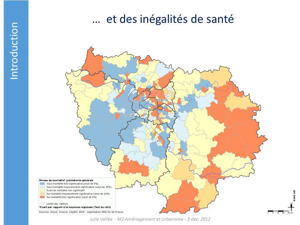 … et des inégalités de santé Introduction Julie Vallée - M2 Aménagement et Urbanisme - 3 dec. 2012
