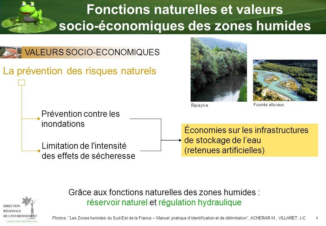 4 La prévention des risques naturels Prévention contre les inondations Limitation de l'intensité des effets de sécheresse Économies sur les infrastruc