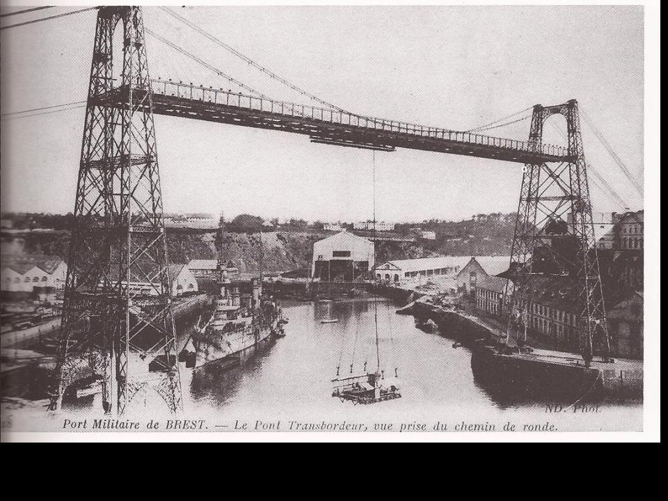 Pont transbordeur a la place du pont de lArteloire