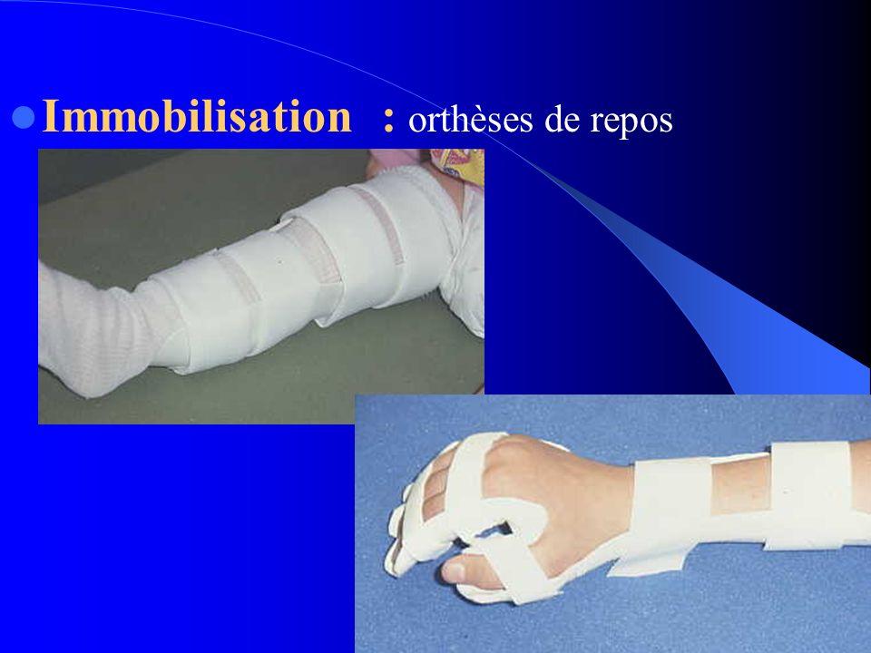 PHASE FROIDE Récupération fonctionnelle: réalignement articulaire et renforcement musculaire.