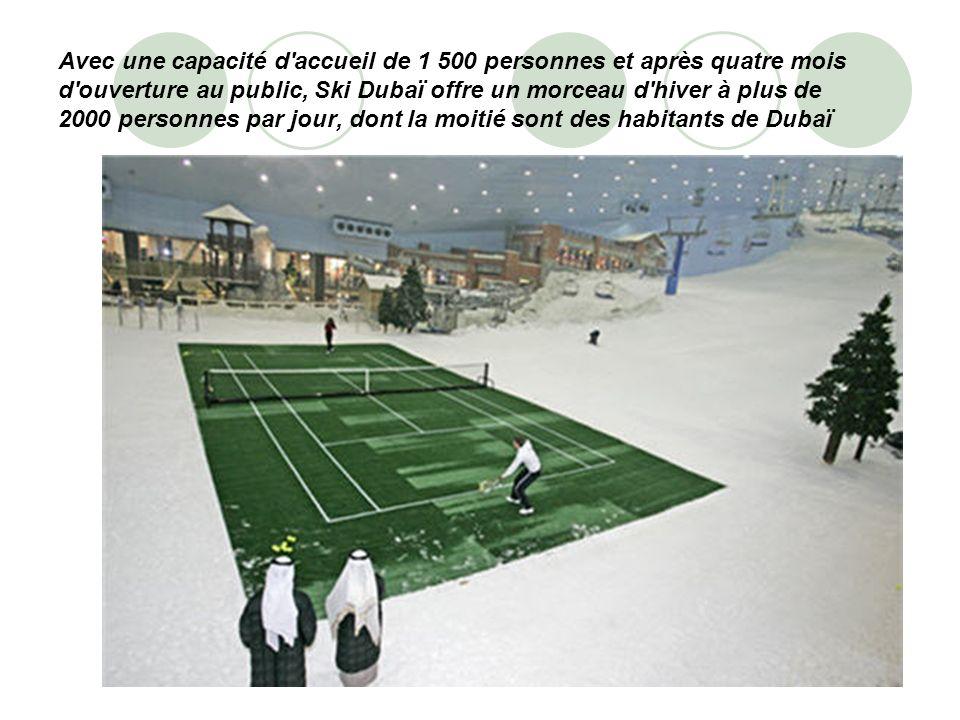 Avec une capacité d'accueil de 1 500 personnes et après quatre mois d'ouverture au public, Ski Dubaï offre un morceau d'hiver à plus de 2000 personnes