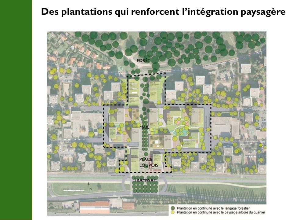 Des plantations qui renforcent lintégration paysagère