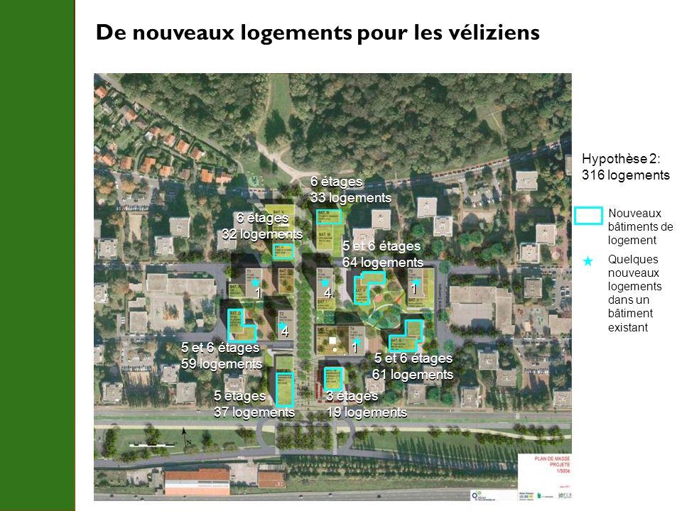 De nouveaux logements pour les véliziens 6 étages 33 logements 6 étages 33 logements 5 et 6 étages 64 logements 5 et 6 étages 64 logements 5 et 6 étag
