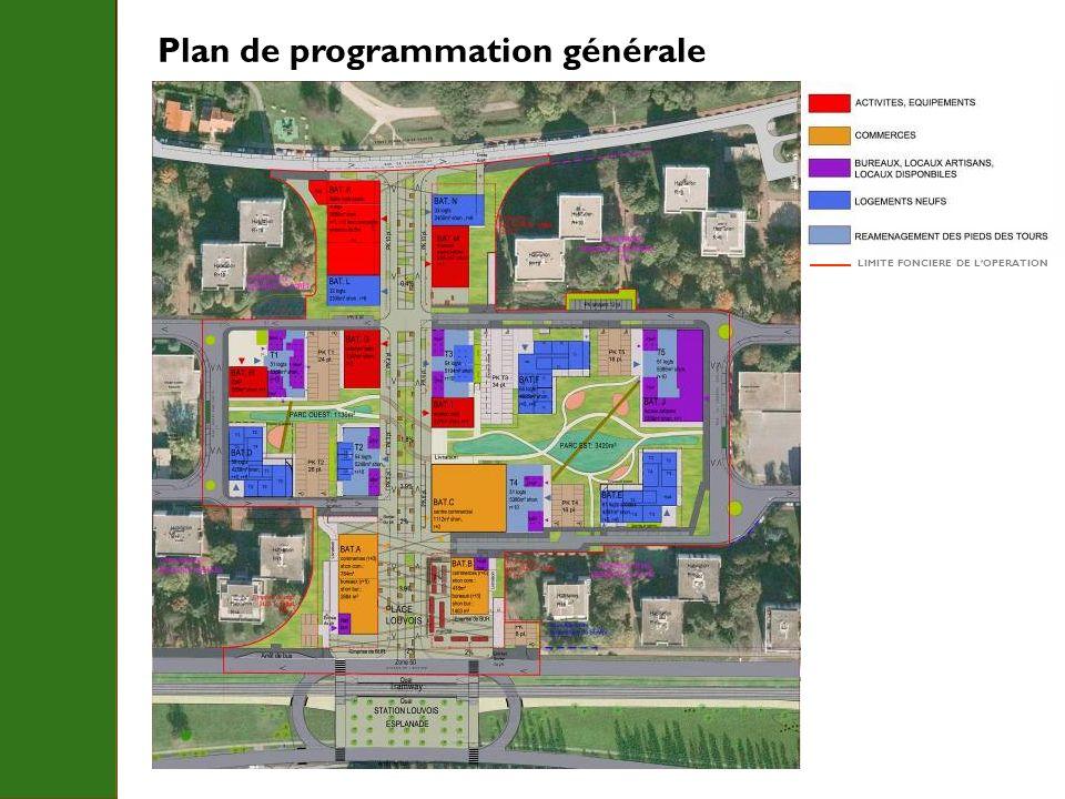 Plan de programmation générale LIMITE FONCIERE DE LOPERATION