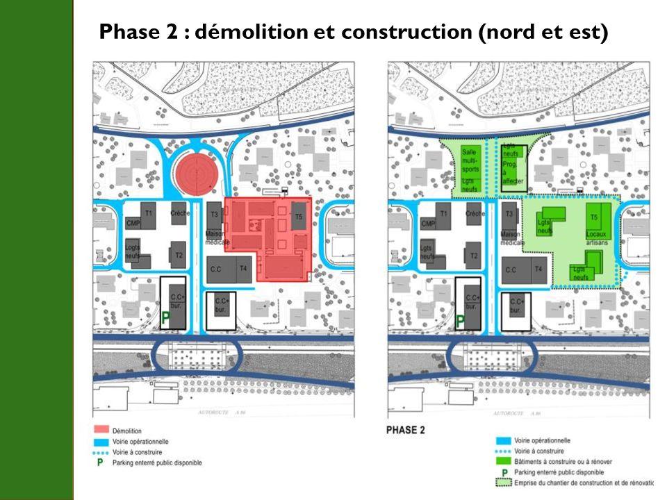 Phase 2 : démolition et construction (nord et est)