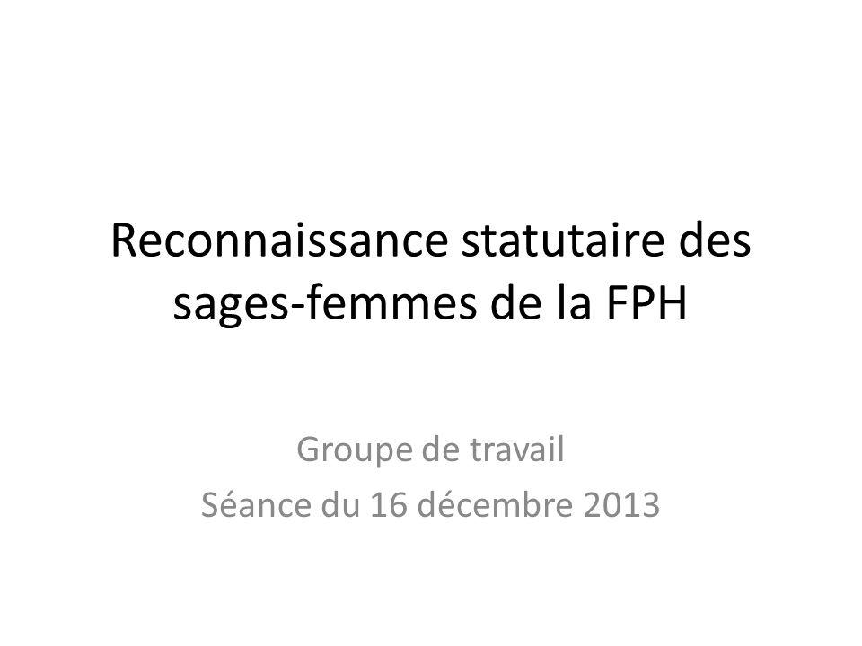 Reconnaissance statutaire des sages-femmes de la FPH Groupe de travail Séance du 16 décembre 2013