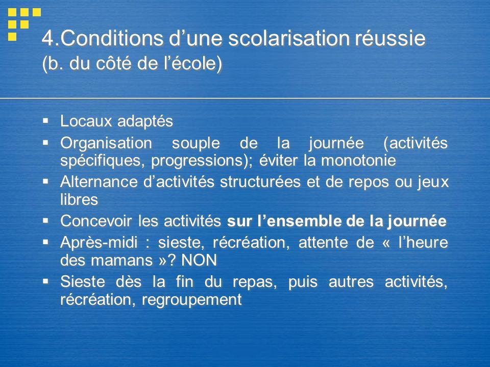4.Conditions dune scolarisation réussie (b.