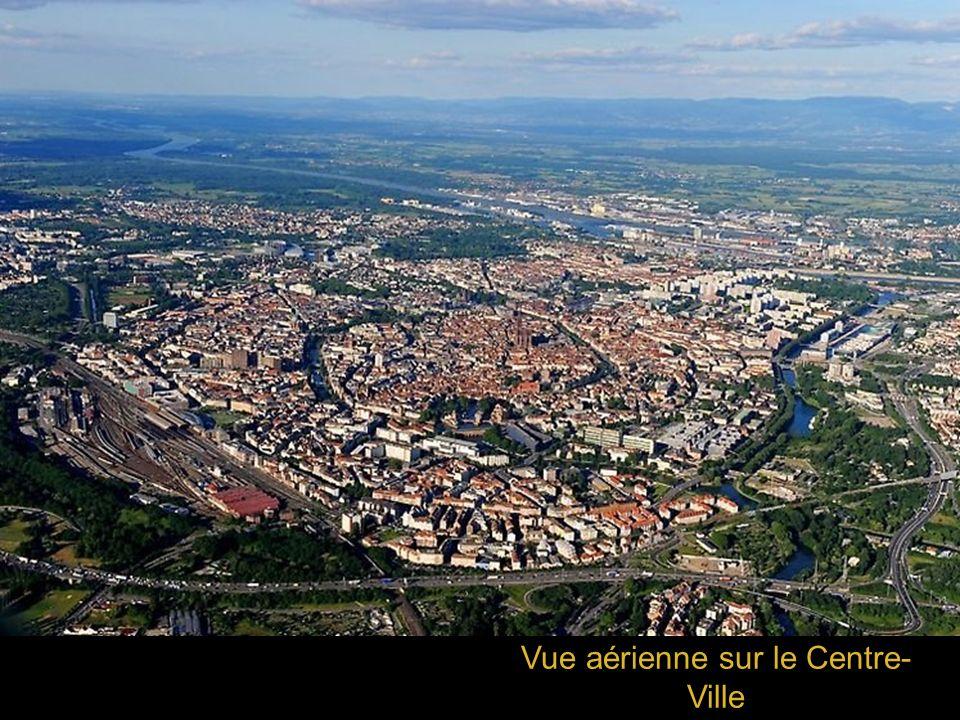 Vue aérienne sur le Centre- Ville