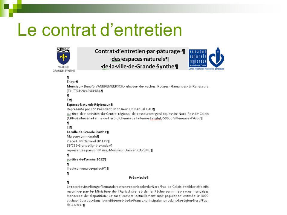 Le contrat dentretien