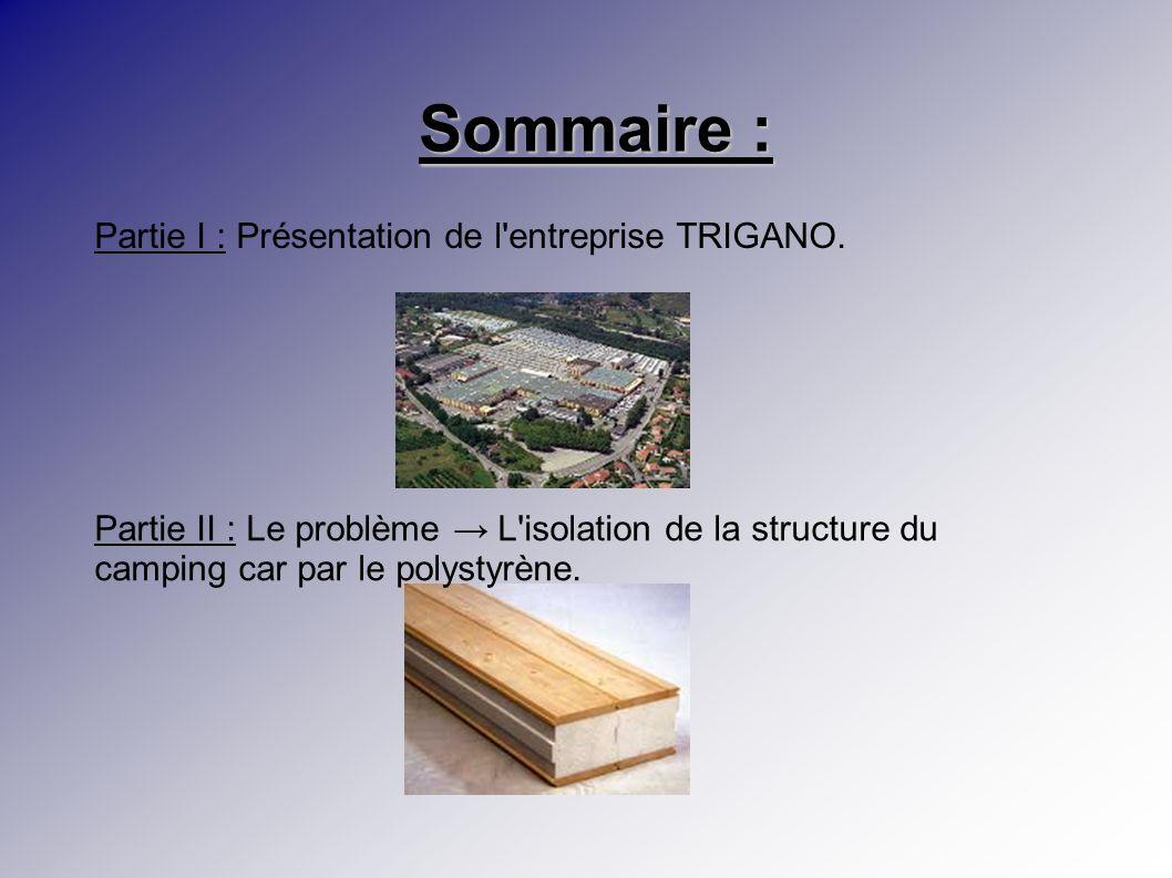 Sommaire : Partie I : Présentation de l entreprise TRIGANO.