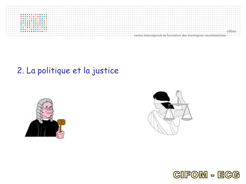 2. La politique et la justice